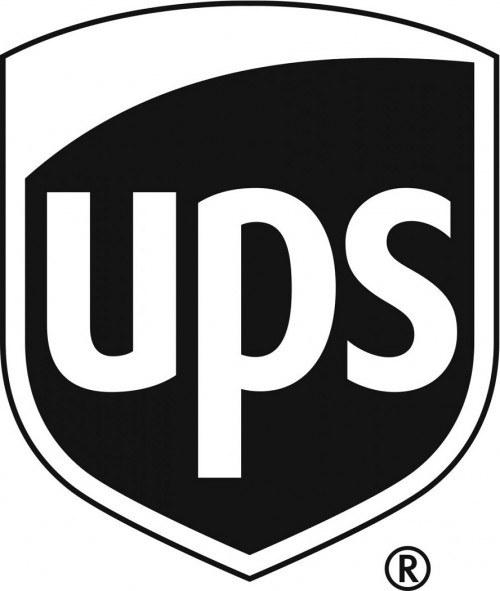 black and white ups logo