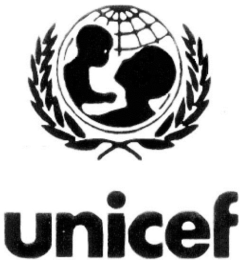 black unicef logo