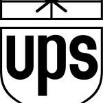 ups black and white logo