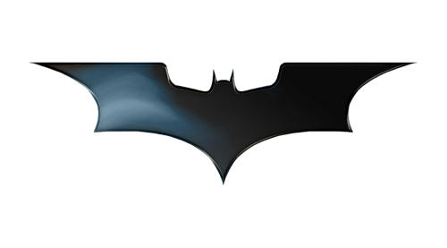 batman logo white