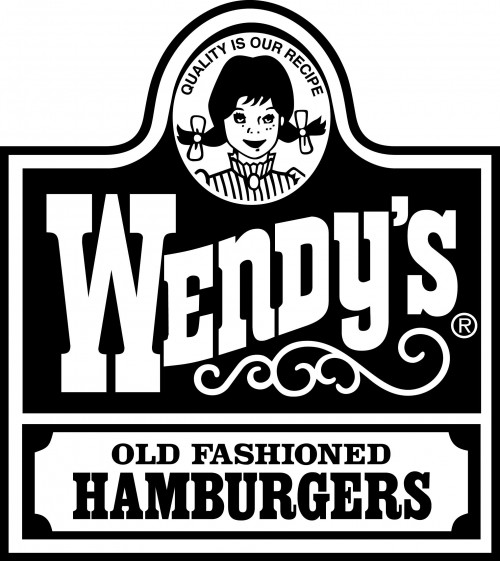 Wendy's Logo Black White