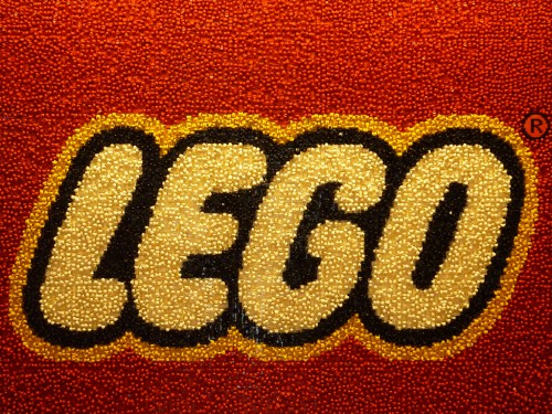 lego logo made of legos