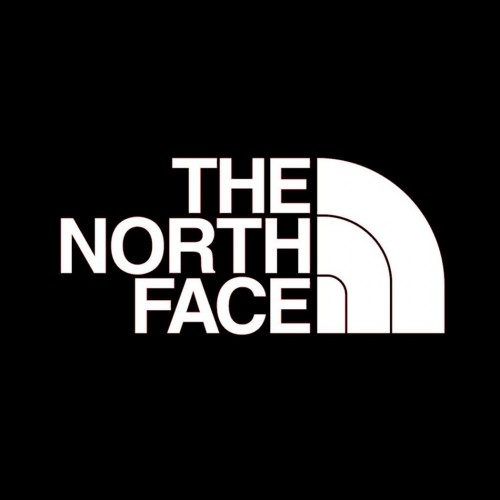 the north face logo black