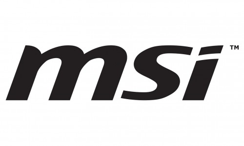 black msi logo