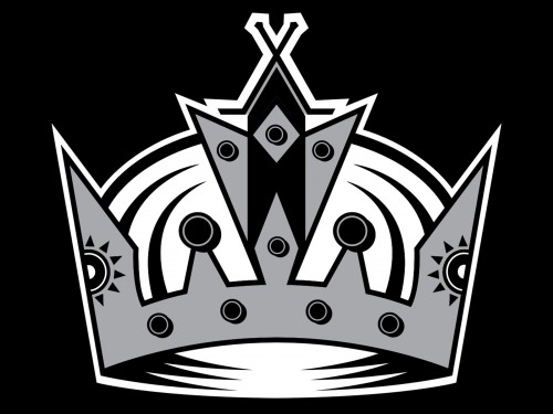 los angeles kings logo black