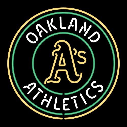 oakland athletics logo black