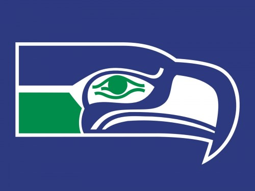 seattle seahawks old logo
