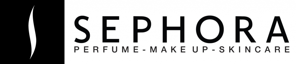 sephora logo at its makeup and skincare items